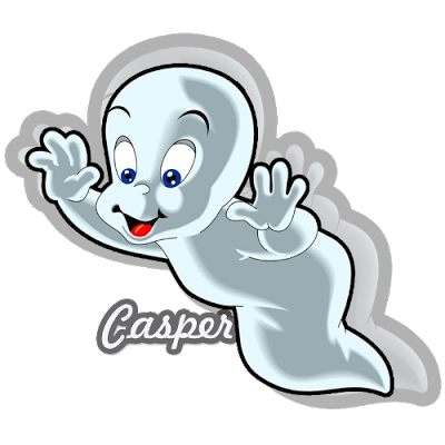 Casper drawing cousin. Has run off with