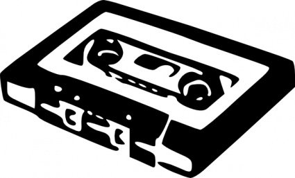 Cassette clipart. Free audio and vector