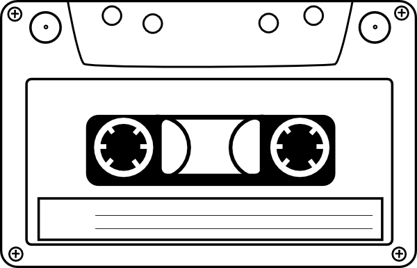 Cassette clip art drawing. Tape clipart tape player jpg black and white download