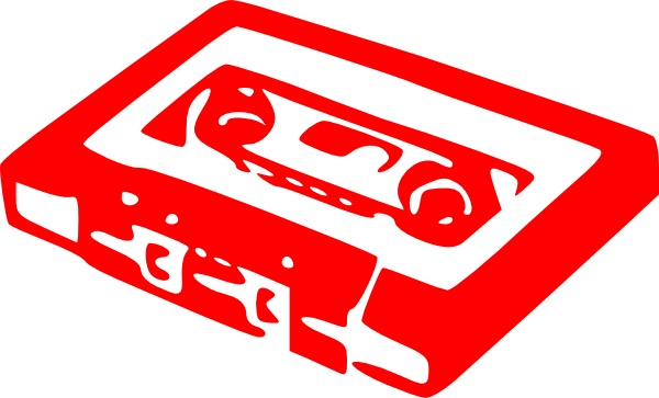 Cassette clipart red. Clip art at clker