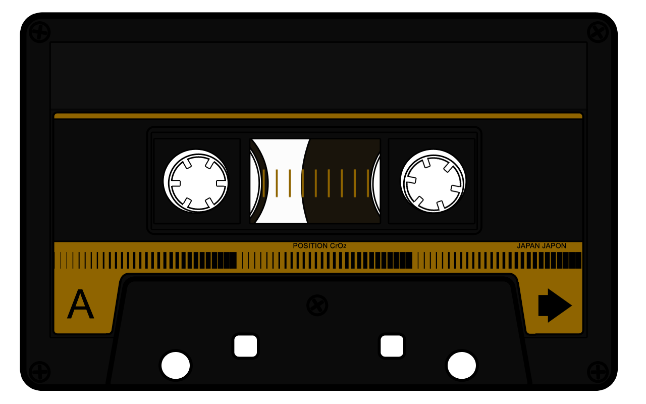 Mixtape drawing tape recorder. Cliparts for free