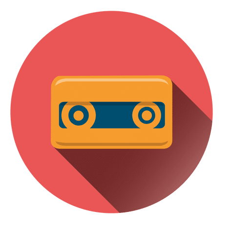 Cassette label png. Tape circle icon transparent