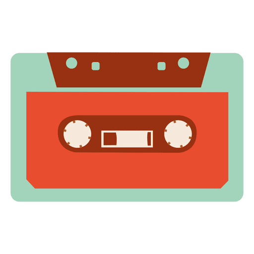 Tape vector png. Vintage black white cassette