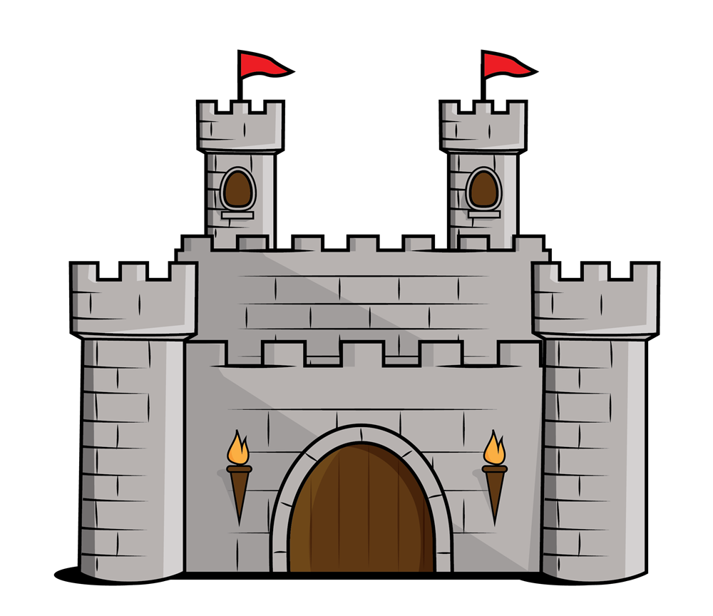 Fortress drawing fort. Cartoon castle free clip