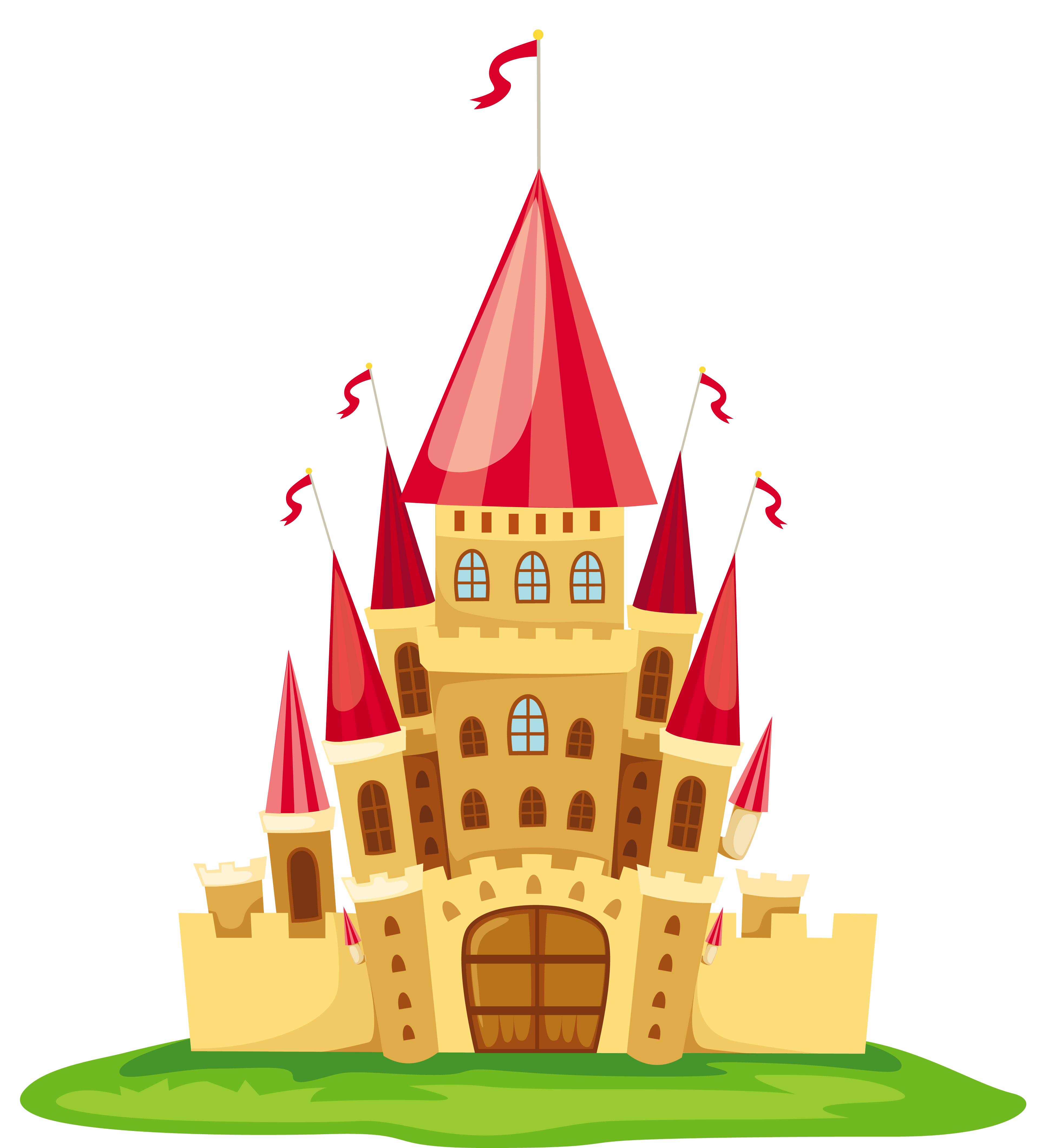 transparent castle illustration