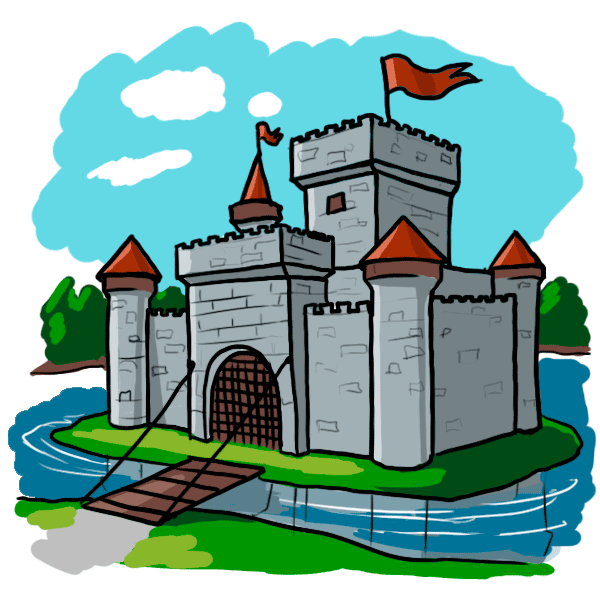 Castle clip medieval period. Collection of clipart