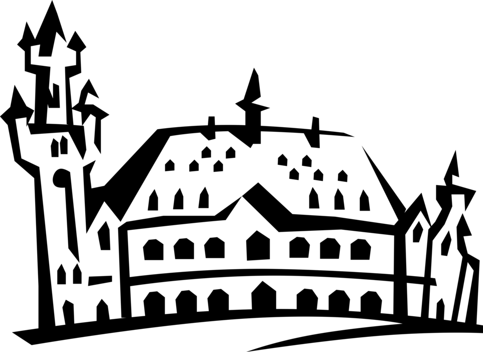 Castle clip dark ages. Fortified from middle vector