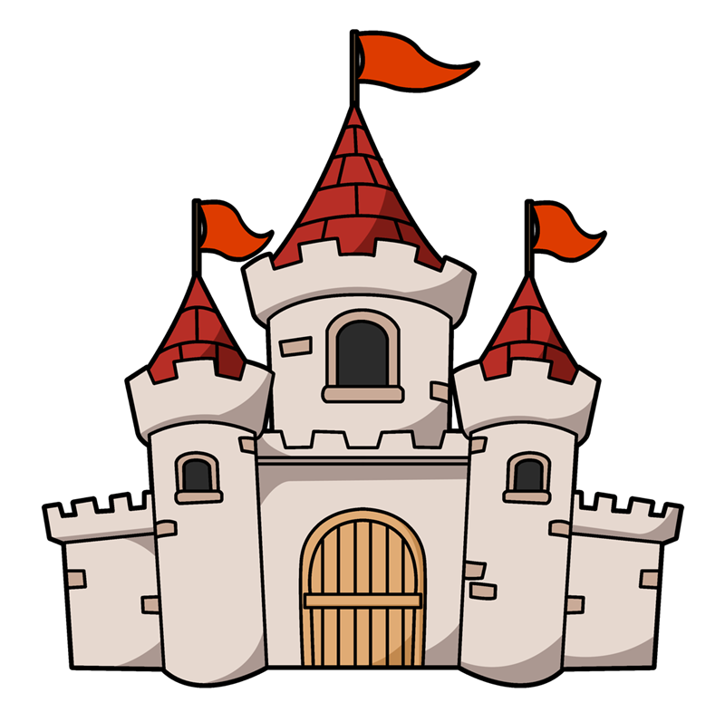 Castle clipart fairytale castle. Free to use public
