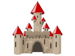 Castle clipart. Brick with a