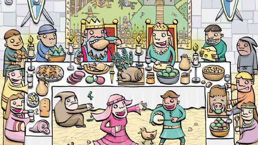 Castle clipart feast. Pencil and in color
