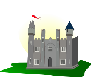 Flying vector castle. Clip art at clker