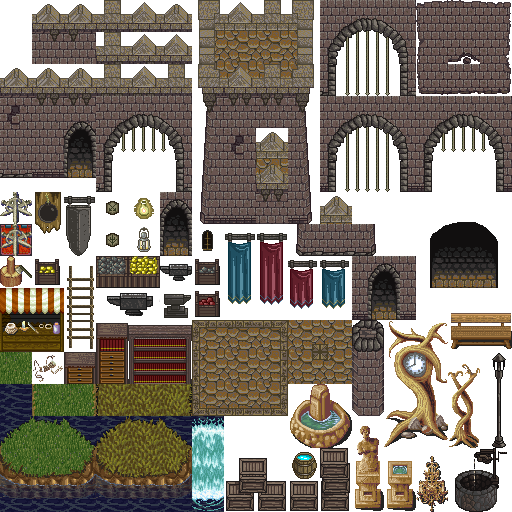 Castle sprite png. Tiles for rpg s