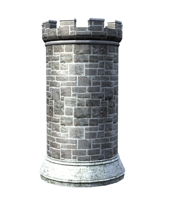 Castle tower png. Stock parts side view