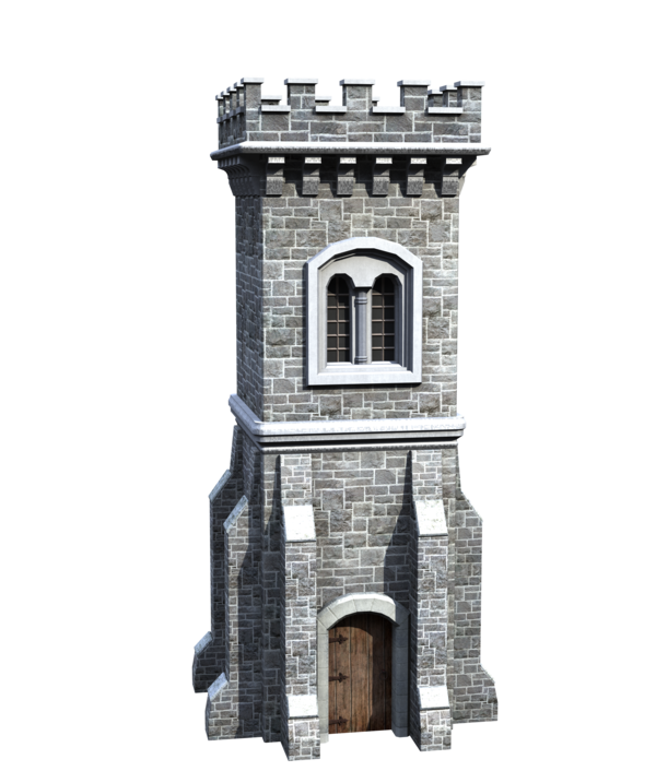 Castle tower png. Stock parts front side