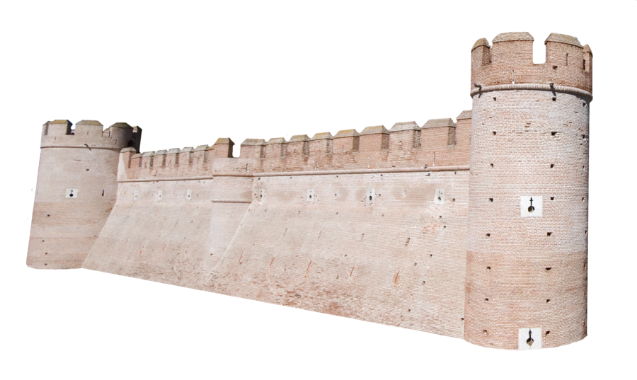 Castle wall png. Precut by stockopedia on