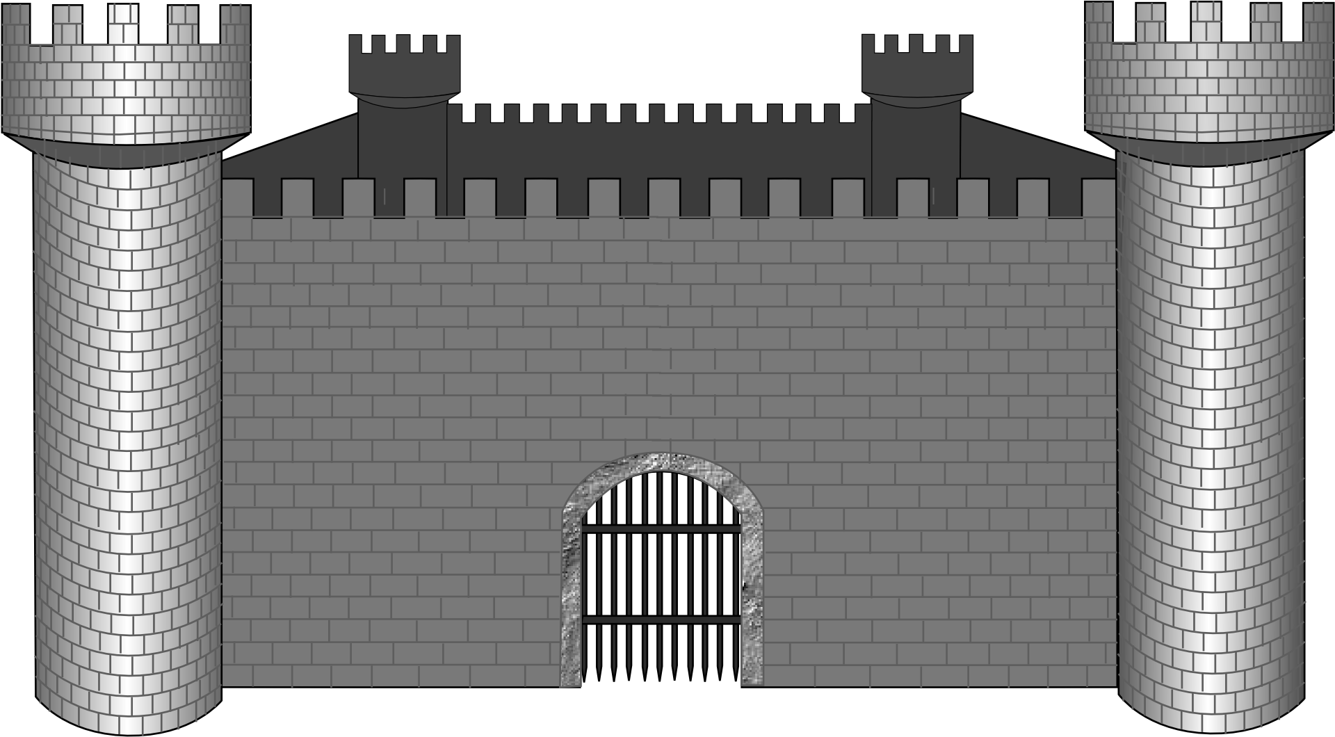 Castle wall png. Fortification stone clip art