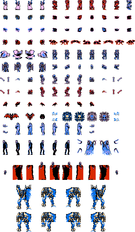 Castlevania sprite png. Sheet all the enimies