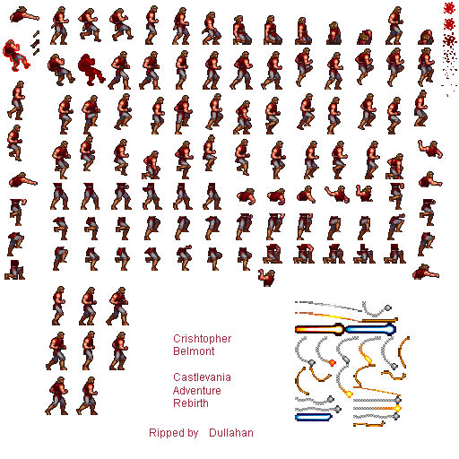 Castlevania sprite png. The adventure rebirth sheets
