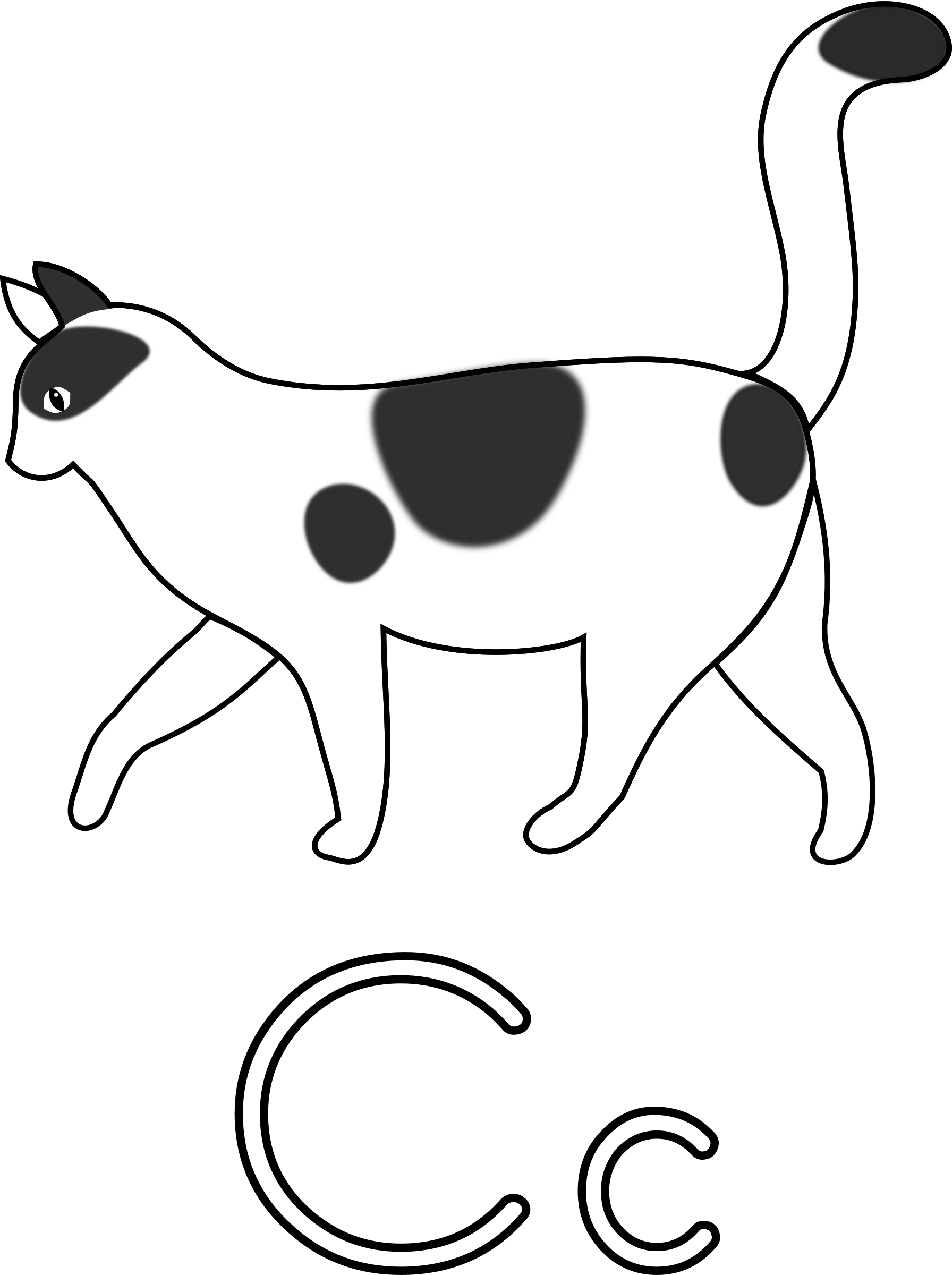 Drawing letter wild. Clipart c for cat