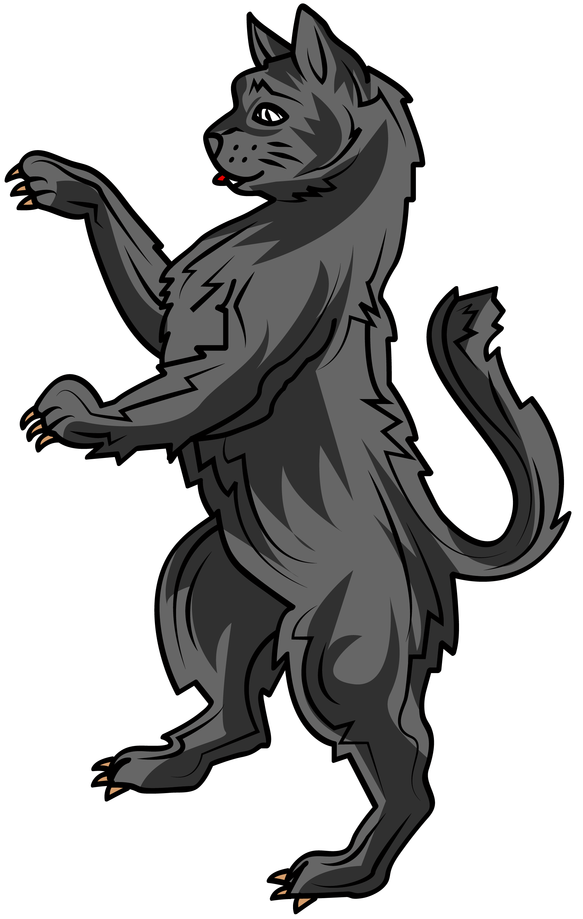 Cat arm png. The in heraldry is