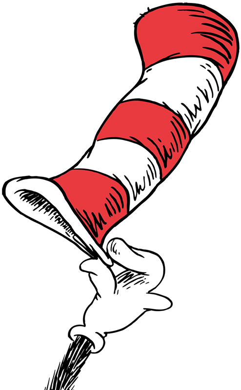 Hats drawing art. Cat in the hat