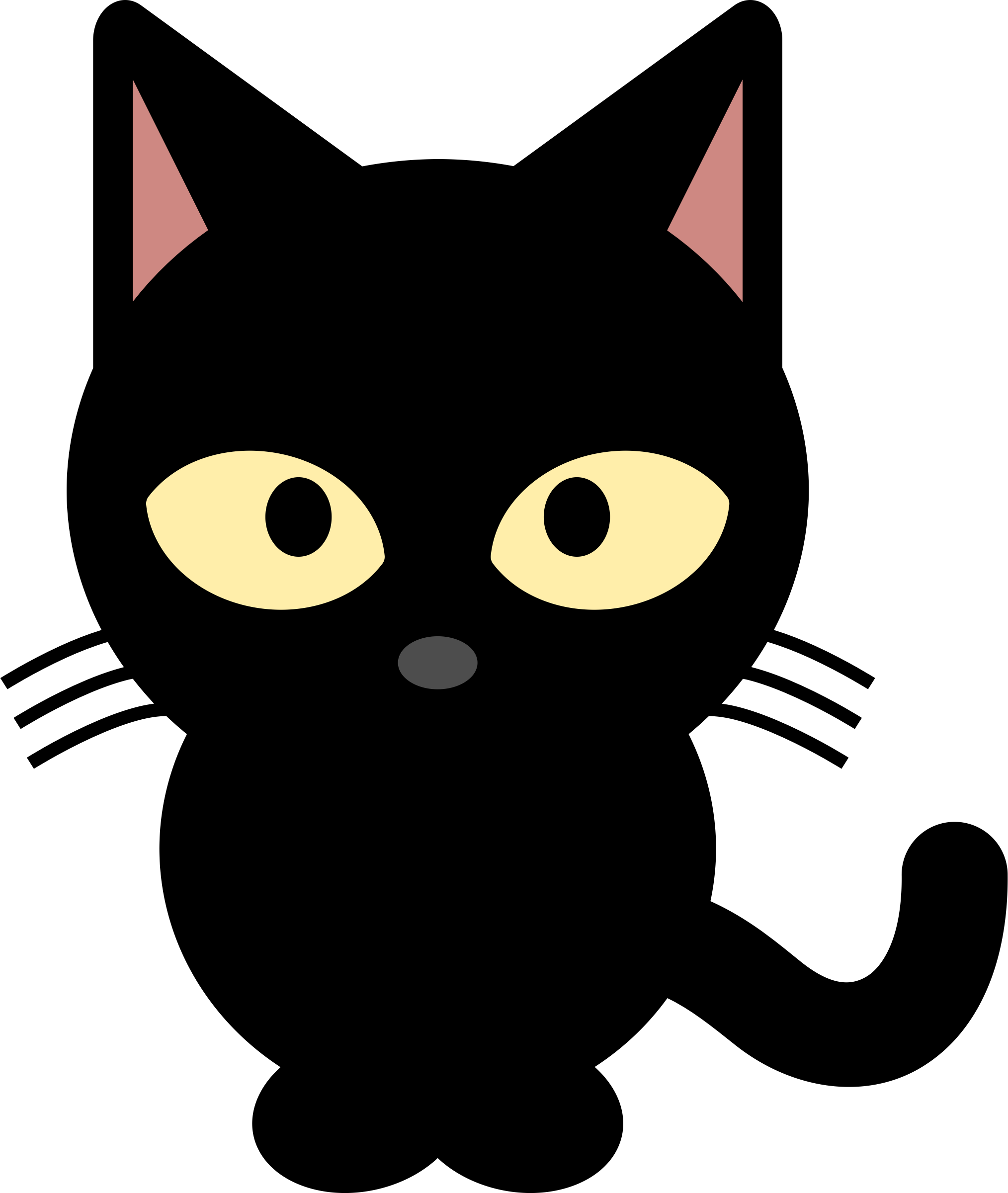 Cat cartoon png. Black group by libberry