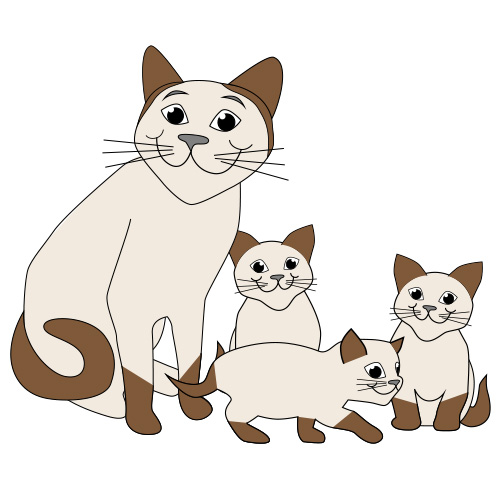 Cat clip art. Free and kittens