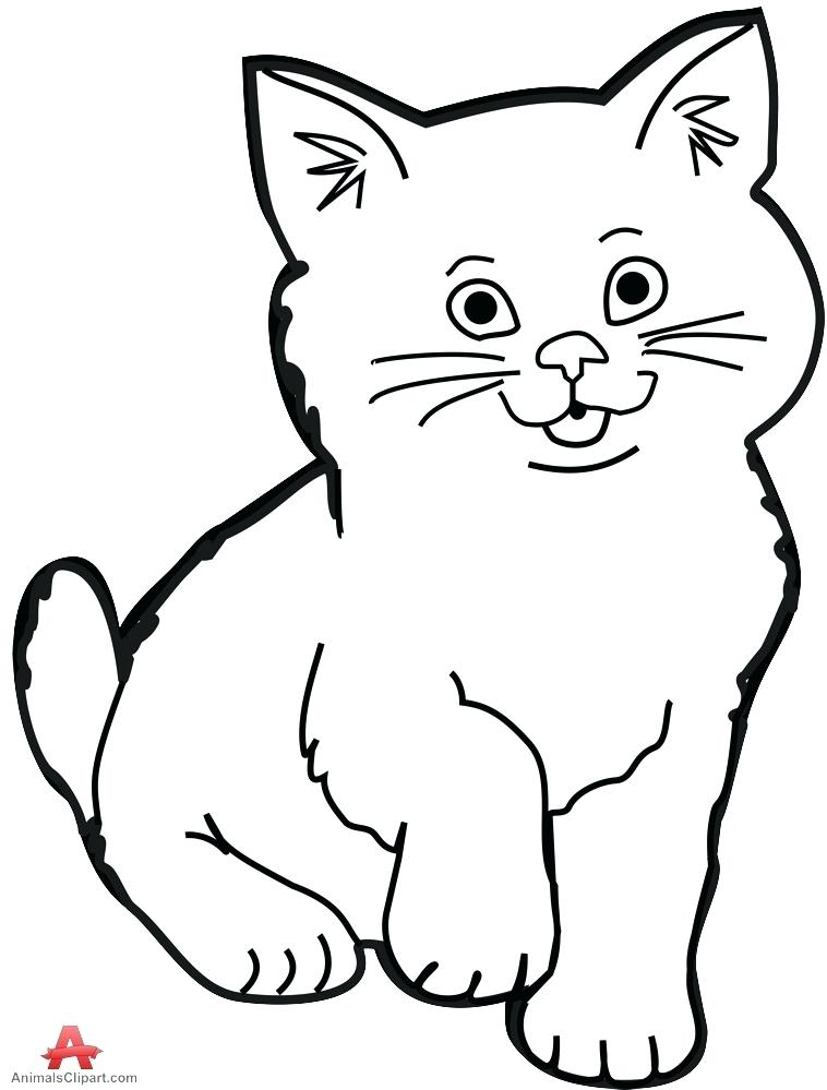 Cat clip art. Black and white drawing