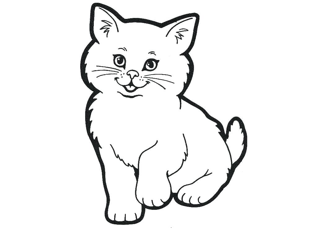 Cat clip art. Black drawing images at