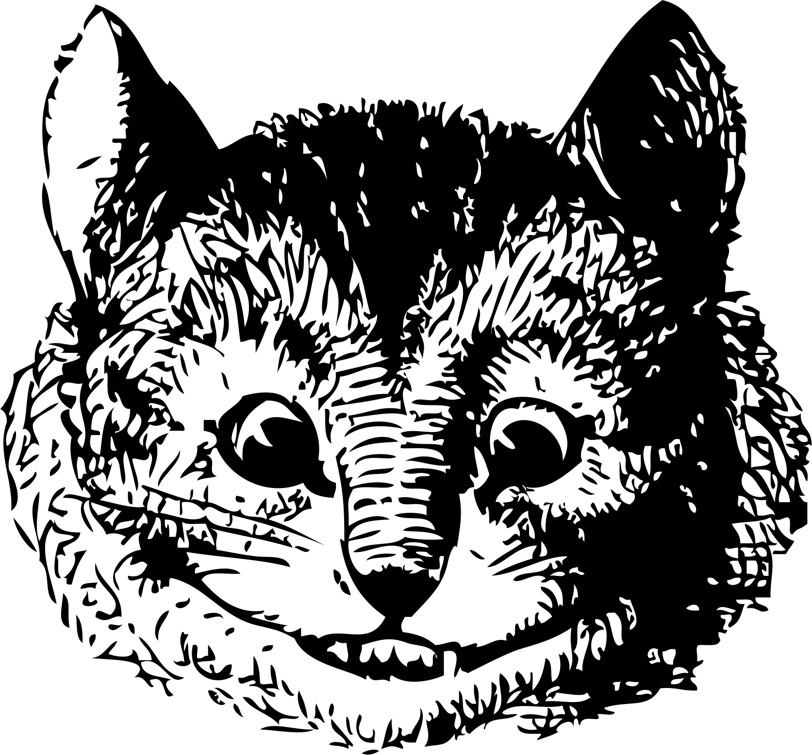 Unique drawing. Clipart the cheshire cat