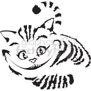 Cat clip art alice in wonderland. Royalty free cheshire vector