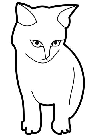 Cat clip art black and white. Clipart panda free images
