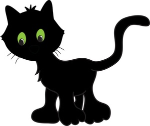 Cat clip art cartoon. Halloween black clipart free
