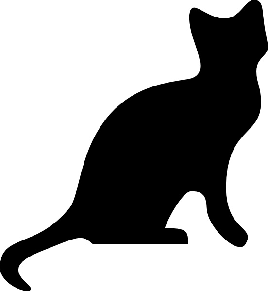 Cat clip art cat silhouette. Free vector in open
