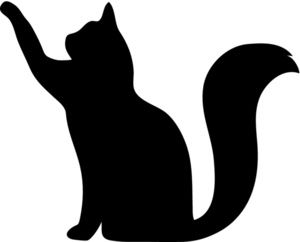 With clipart silhouette. Free cat clip art