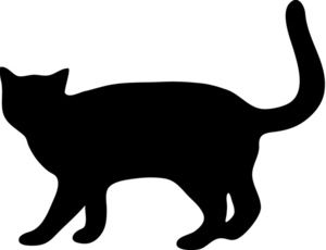Cat clip art cat silhouette. For my quilt label
