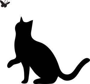 Free cat image of. Paw clip art silhouette graphic royalty free library