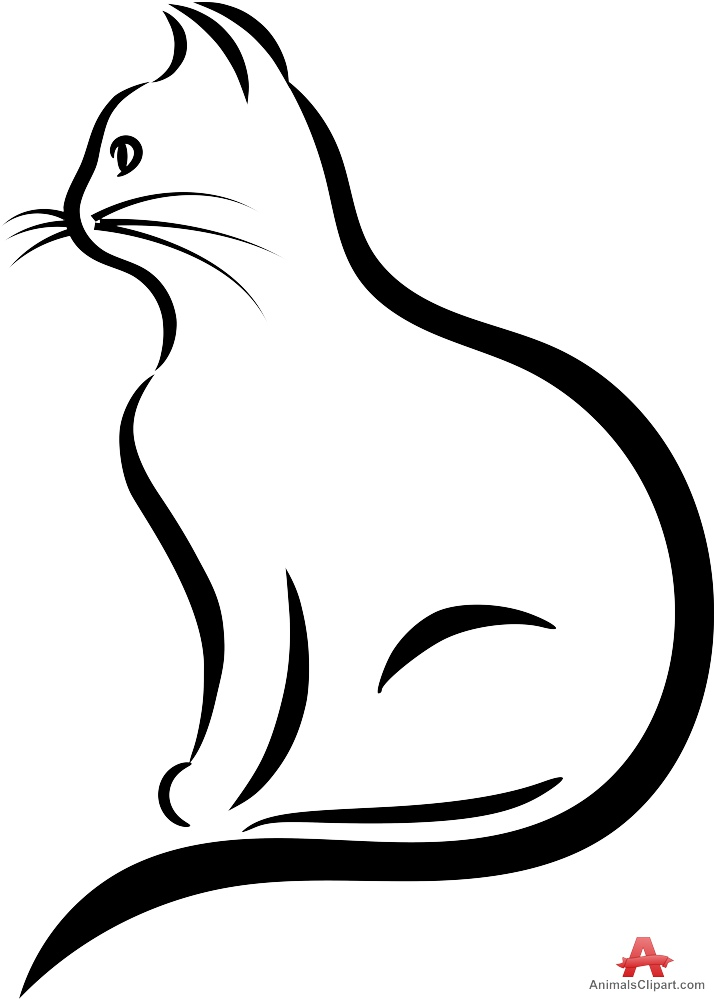 Cat clip art cat silhouette. Clipart at getdrawings com