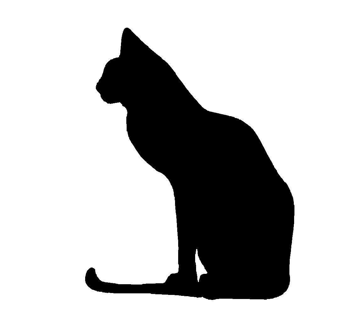 Cat clip art cat silhouette. Dog at getdrawings com