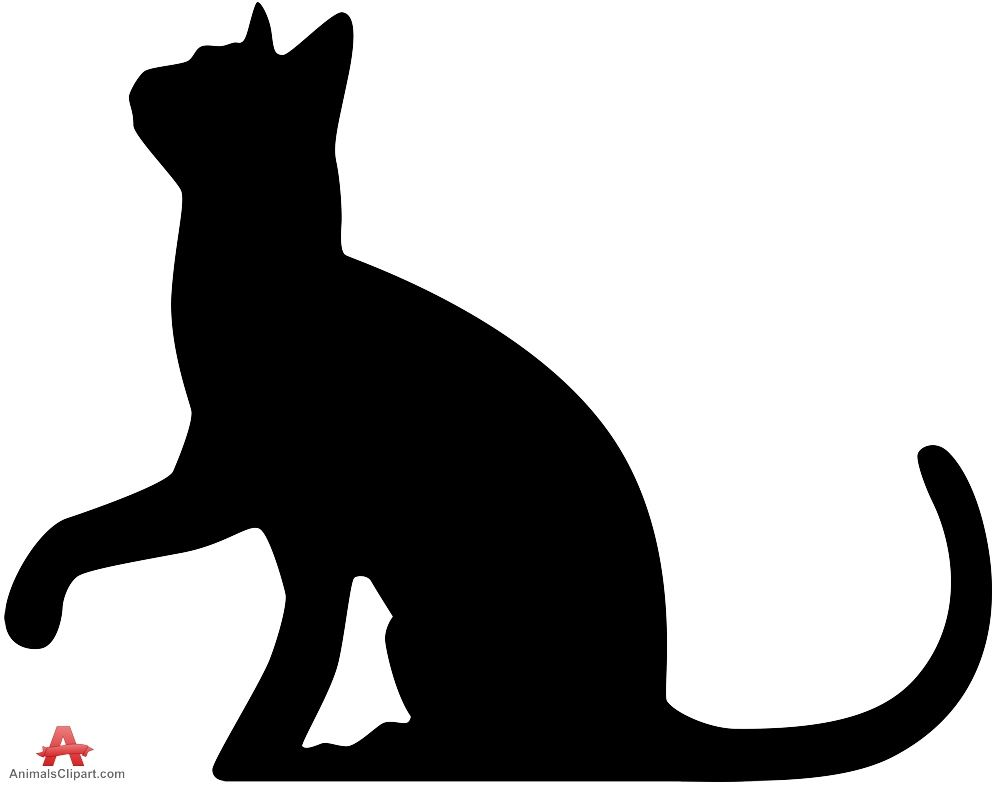 Cat clip art cat silhouette. White at getdrawings com