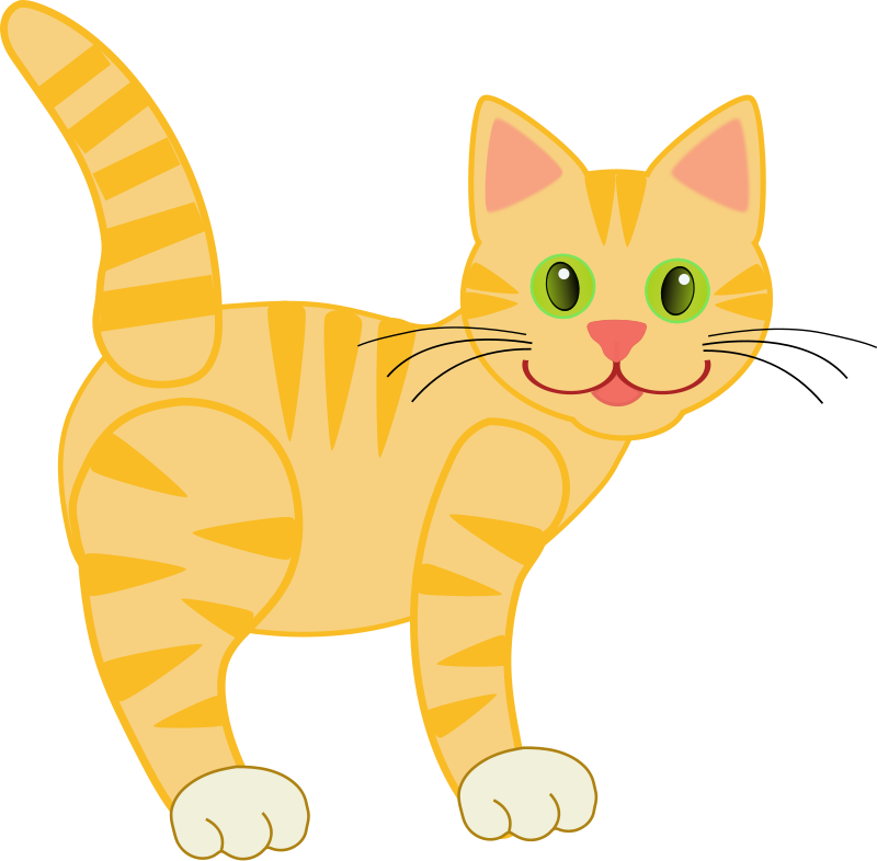 Cute clipart . Cat clip art tabby picture freeuse library