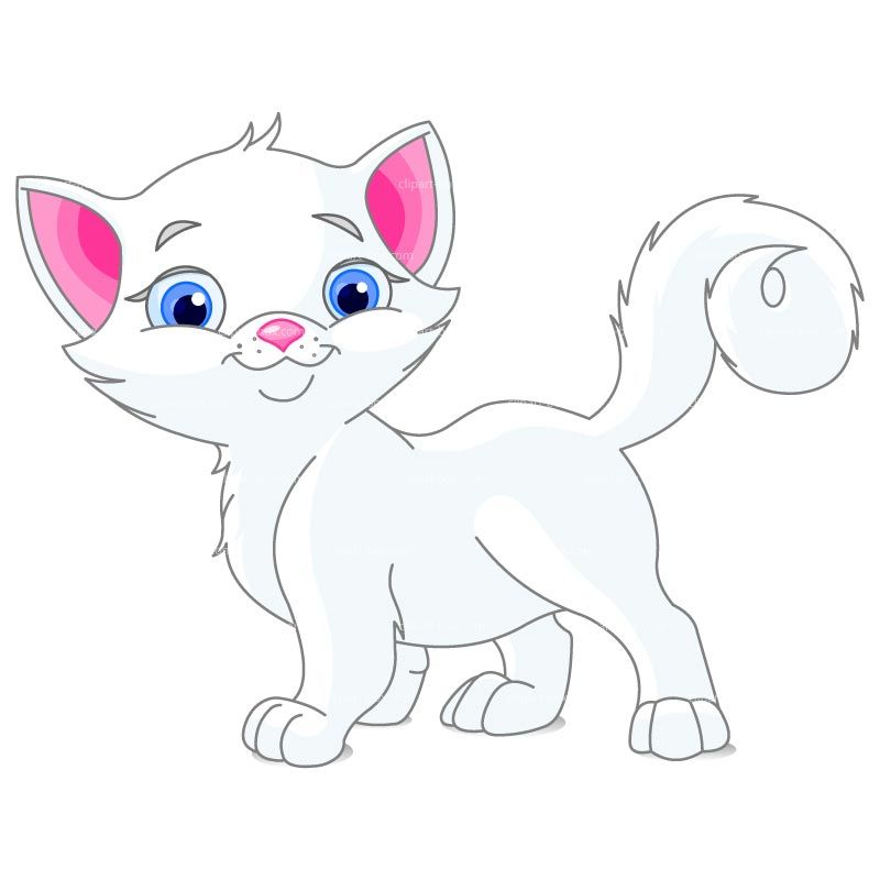 Clipart white royalty free. Cat clip art cute jpg freeuse download