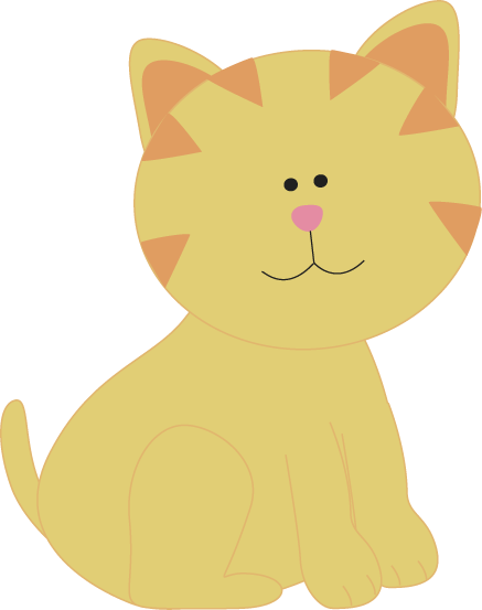 Cat clip art cute. Images yellow