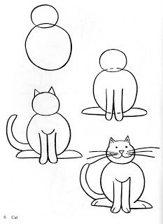 Cat clip art easy. Free arts how to