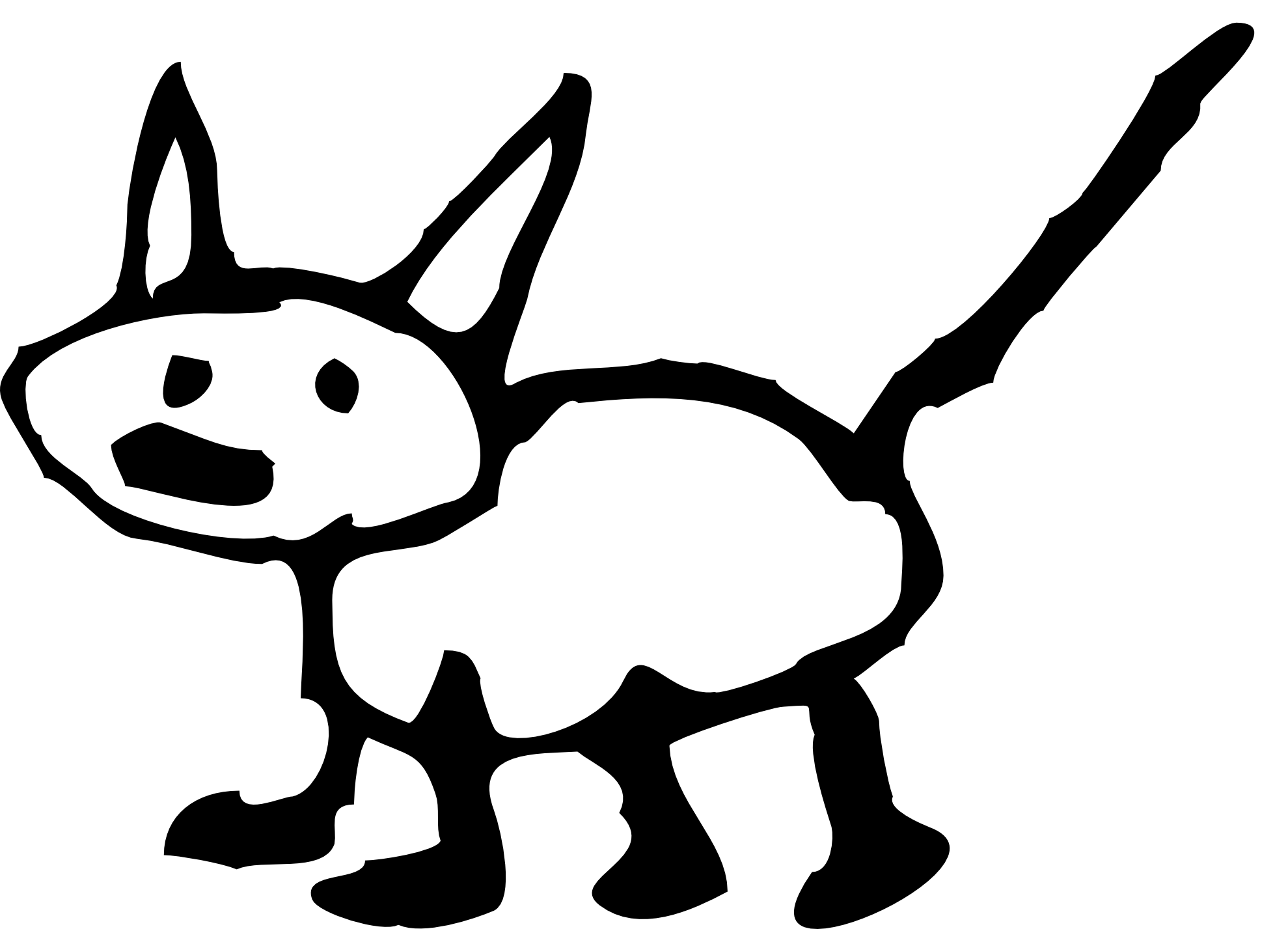 Top drawing black and white. Best free cat clip