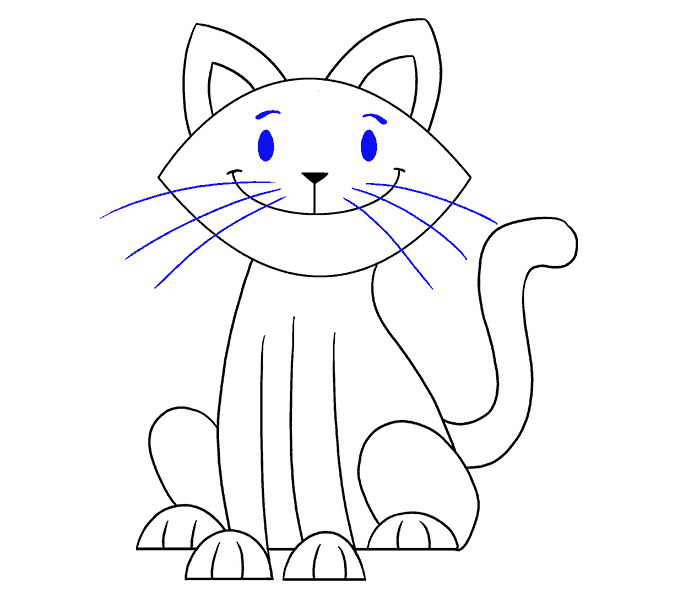 Cat clip art easy. Drawing clipart images gallery