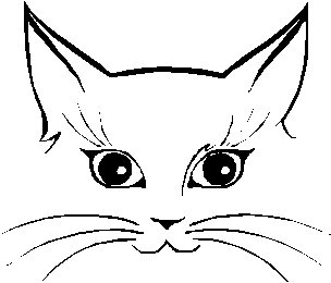 cat clip art easy