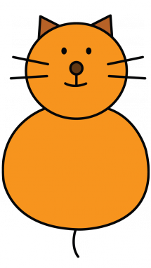 Cat clip art easy. Simple drawing of a