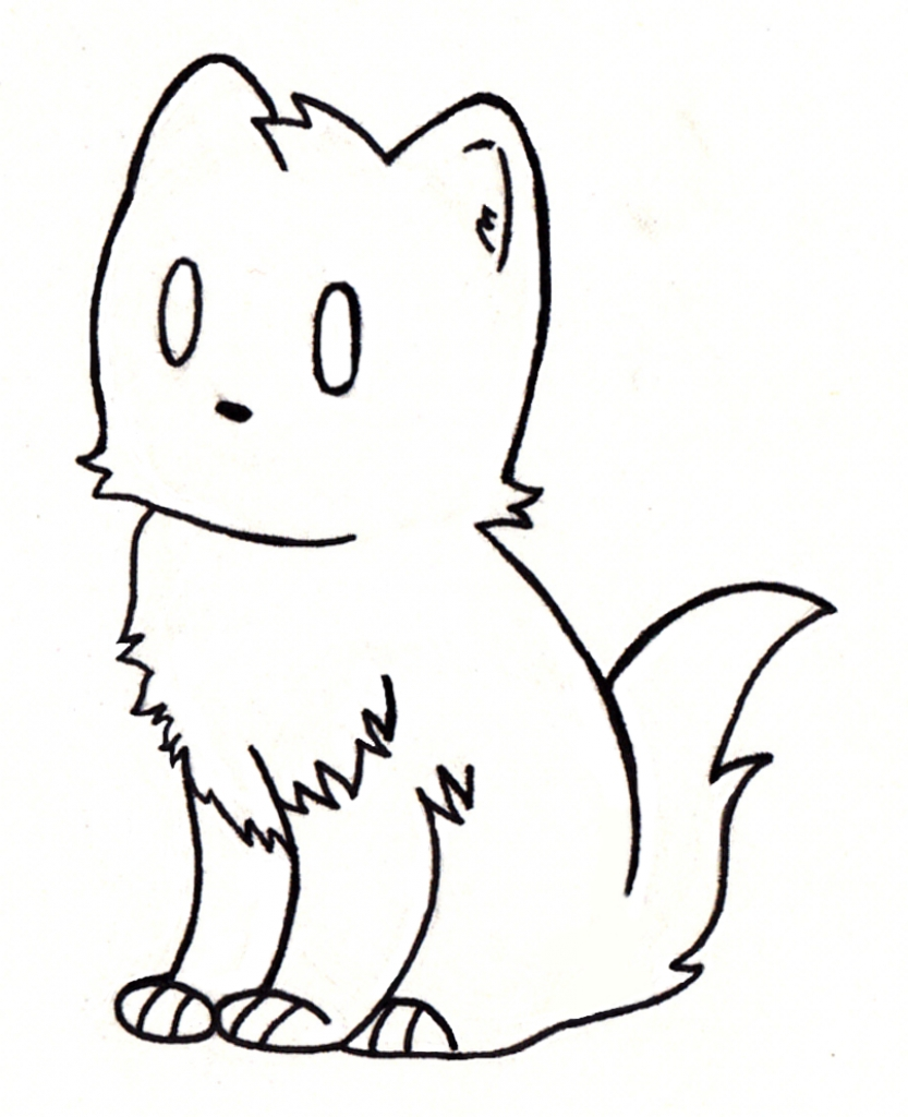 Cat clip art easy. Simple drawing cute clipart