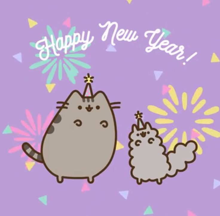 Cat clip art happy new year. Best mew cats